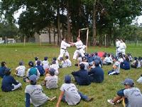 Clinicas de Karate para niños de la Escuela de Policia