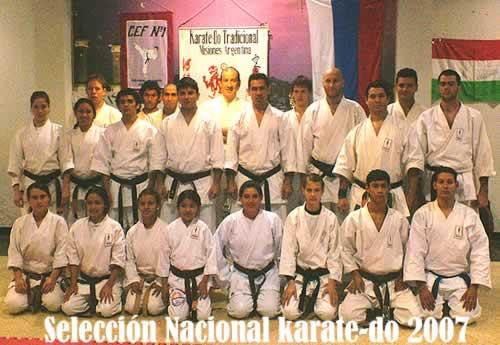 Misioneros en la Selección Nacional de Karate 2007