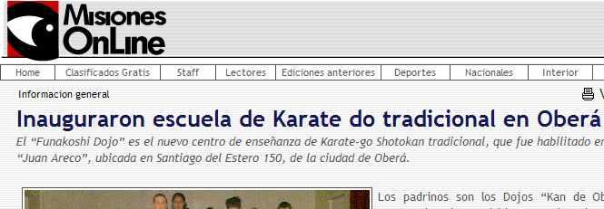 Inauguraron escuela de Karate do tradicional en Oberá