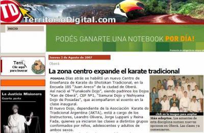 La zona centro expande el karate tradicional