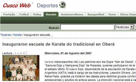 La Escuela de Justo Gómez crece en Oberá - Nuevo Dojo